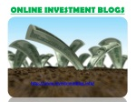 Online Investment Blogs