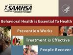 Proposed Recommendations SAMHSA s Center for Substance Abuse Prevention Drug Testing Advisory Board