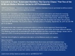 """Corcentric to Host """"Automated Workflow: The Cure for Chaos,"""""""