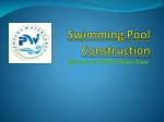 swimming pool construction, swimming pool