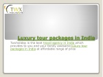 luxury tour packages in india