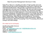 Best Document Management Services in India