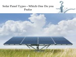 Types of Solar Panel - Which One Do You Prefer?