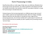 Form Processing in India