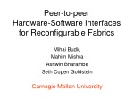Peer-to-peer Hardware-Software Interfaces for Reconfigurable Fabrics