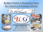 Budget Hotels in Bangalore Near Bus Stand