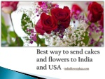 Send flowers and gifts in India