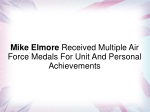 Mike Elmore Received Multiple Air Force Medals For Unit And