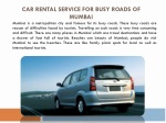 Car Rental Service for Busy Roads of Mumbai