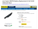 acer Aspire 3820TG Battery Replacement 6 Cell 10.8V 4400mAh