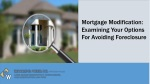 Mortgage Modification: Examining Your Options