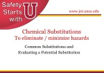 Chemical Substitutions To eliminate / minimize hazards