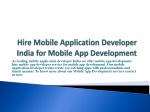 Mobile App Developer India with MADI for Android App