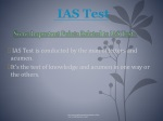 IAS test is one of the toughest test in India