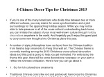 4 Chinese Decor Tips for Christmas 2013