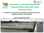 Presentation on Rooiwal Waste Water Treatment Plant and Temba Water Treatment Plant