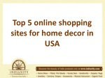Top 5 online shopping sites for home decor