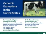 Genomic Evaluations in the United States