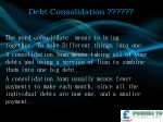 Debt Consolidation from Pounds to pocket