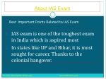 We make you fully aware About IAS Exam
