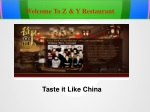 Authentic Chinese Cuisine - Z