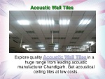 Acoustic Wall Tiles
