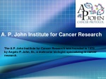A.P. John Institute for Cancer Research