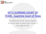0FT E SUP EME COURT OF TEXAS - Supreme Court of Texas
