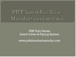 PTFE Lined ball valve manufacturers