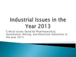 Industrial Issues in the Year 2013