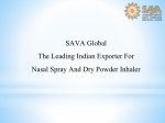 SAVA Global The Leading Indian Exporter For Nasal Spray