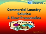 Offers commercial laundry equipment