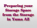 Preparing Your Storage Space from the Storage in Yuma AZ