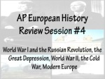 AP European History Review Session #4