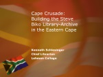 Cape Crusade: Building the Steve Biko Library-Archive in the Eastern Cape