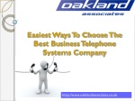 Easiest ways to choose the best business telephone systems
