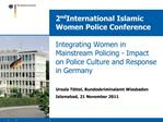 2nd International Islamic Women Police Conference