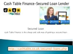 Cash Table Finance|Secured loan with bad credit|Secured Loan