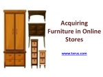 Acquiring Furniture in Online Stores