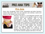 Anorexia Tips