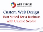 Custom Web Design - Best Suited For a Business with Unique