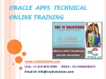 Oracle Apps Technical Online Training | Apps Technical