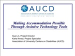 making accommodation possible through assistive technology tools