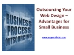 Outsourcing Your Web Design – Advantages for Small Business