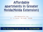 Amrapali O2 Valley Affordable apartments in Noida Extension