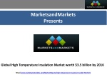 Global High Temperature Insulation Market worth $3.5 billion