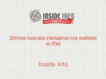 QlikView business intelligence now available on iPad