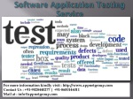 Software Application Testing Service