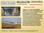 Warehouses for Sale, Rent and Lease in Gurgaon