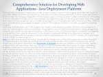 Comprehensive Solution for Developing Web Applications - Jav